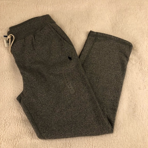 Polo Ralph Lauren Fleece Sweat Pants Joggers Mens XXL Navy Heather wRed Pony NWT